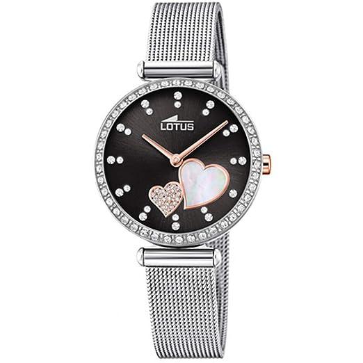 Lotus Reloj Analógico para Mujer de Cuarzo con Correa en Acero Inoxidable 18616/4: Amazon.es: Relojes