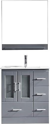 Virtu USA MS-6730-C-GR-001 Zola 30″ Single Bathroom Vanity