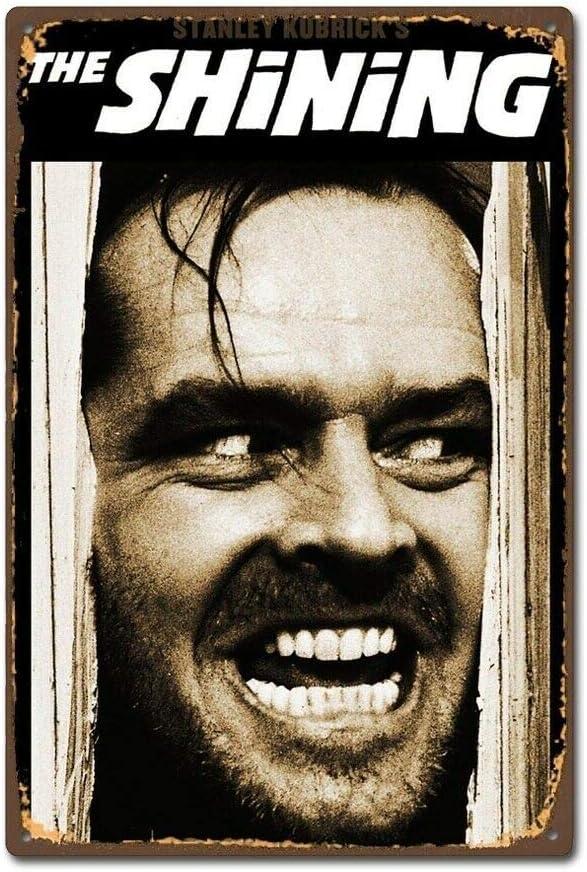 Horror Movie Film The Shining Poster Design Vintage Retro Tin Sign Metal Decor 8 x 12 Inches