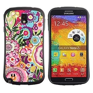 LASTONE PHONE CASE / Suave Silicona Caso Carcasa de Caucho Funda para Samsung Note 3 N9000 N9002 N9005 / Flowers Random Pink Petal Spring