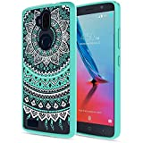 zte blade 3 case - ZTE Blade Max 3 Case, Z986DL Case, ZTE Z986U Case Clear with Screen Protector,AnoKe [Scratch Resistant] Colors Mandala TPU Bumper Slim Fit Cute Protective Phone Cover for ZTE Blade Max 3 -TM CH Mint