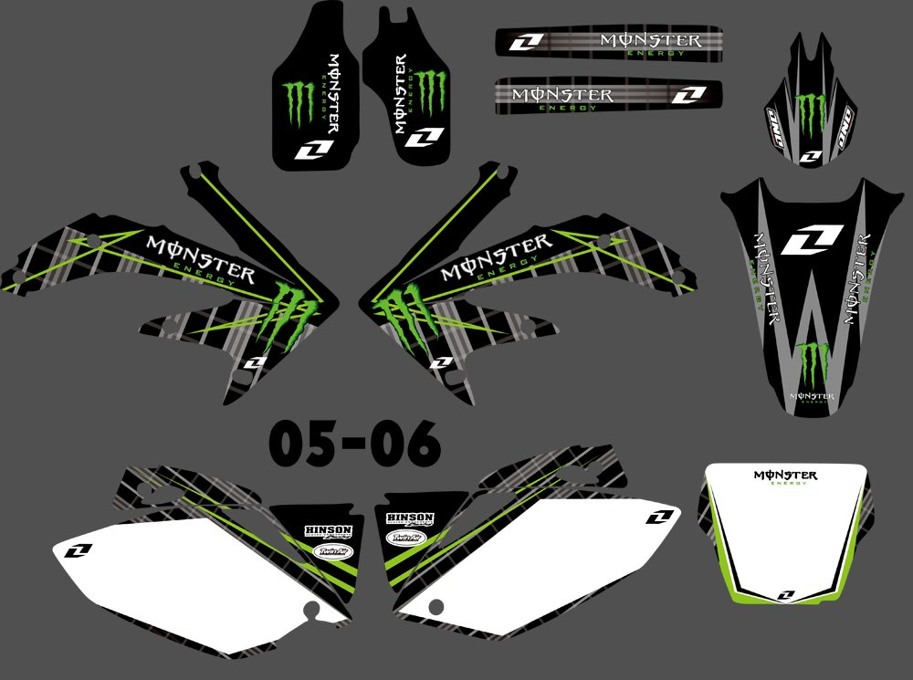 DST0167 3M Customized Motorcross Stickers Motorcycle Decals Graphics Kit for Honda CRF450R CRF450 2005 2006