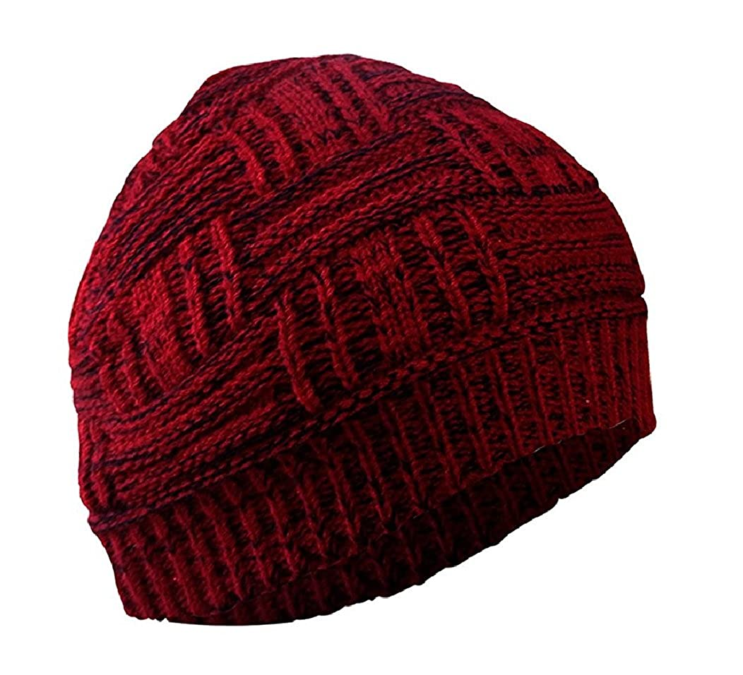 4401d8870ba Gajraj unisex beanie woolen knitted slouchy skull cap blood red clothing  accessories jpg 1052x956 The wool
