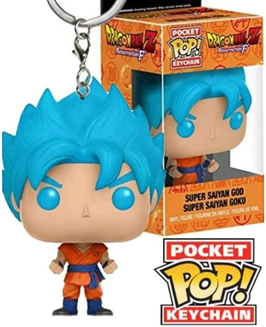 Super Saiyan God Super Saiyan Goku Keychain Dragon Ball Z Resurrection F Porte-cl/és Pocket Pop