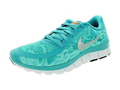 5bb9fa3eba3f4 Nike Free 5.0 V4 NS PT Womens Blue Sneakers Shoes Size UK 7  Amazon ...