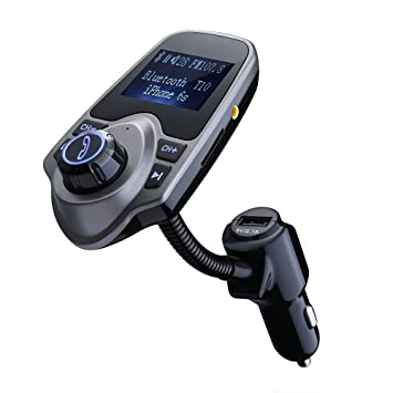 VicTsing Transmetteur FM sans fil Bluetooth Kit Chargeur USB de Voiture  avec 3.5 mm Port Audio 18f1ca9481f