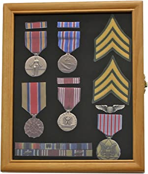 Display Gifts Inc. Armario Vitrina Caja de Sombra para medallas, Pines, Parches, Militar, Insignia, Lazos mpc02: Amazon.es: Hogar