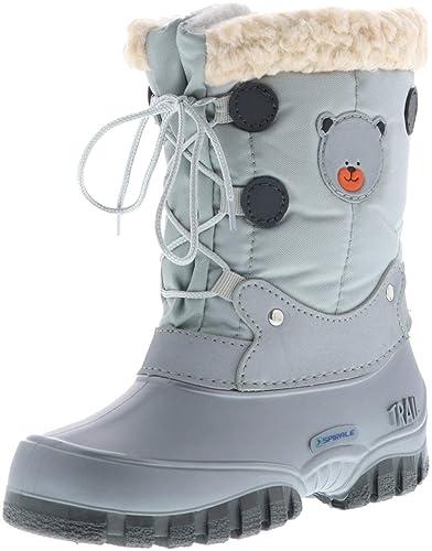 50e44f80ccbcb SPIRALE Kleinkinder Mädchen Jungen Winterstiefel Snowboots Silber/grau,  Farbe:Silber, Größe: