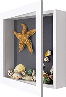 product image for Shadow Box Frame Display Case, 2-inch Depth, Great for Collages, Collections, Mementos (11x11, White)