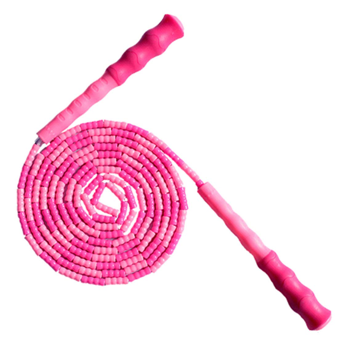 LETUSPORT 9 Feet Adjustable Beaded Segmented Jump Rope for Women Men Kids Lightweight Work Out Speed Jumping Ropes (Pink, 1 pcs)