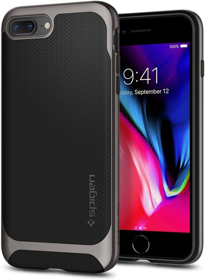 Spigen Neo Hybrid Designed for iPhone 8 Plus Case (2017) / Designed for iPhone 7 Plus Case (2016) - Black & Gunmetal