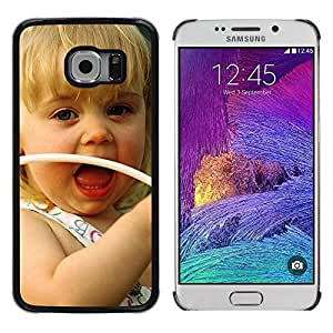 iKiki Tech / Estuche rígido - Cute girl Smiling - Samsung Galaxy S6 EDGE SM-G925