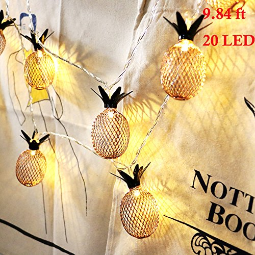 Pineapple String Lights 9.8FT//3M 20 LED Bulbs Battery Operated Romantic Fairy Lights for Wedding Garden Festival Party Halloween Christmas Indoor /& Outdoor Decoration-Warm White