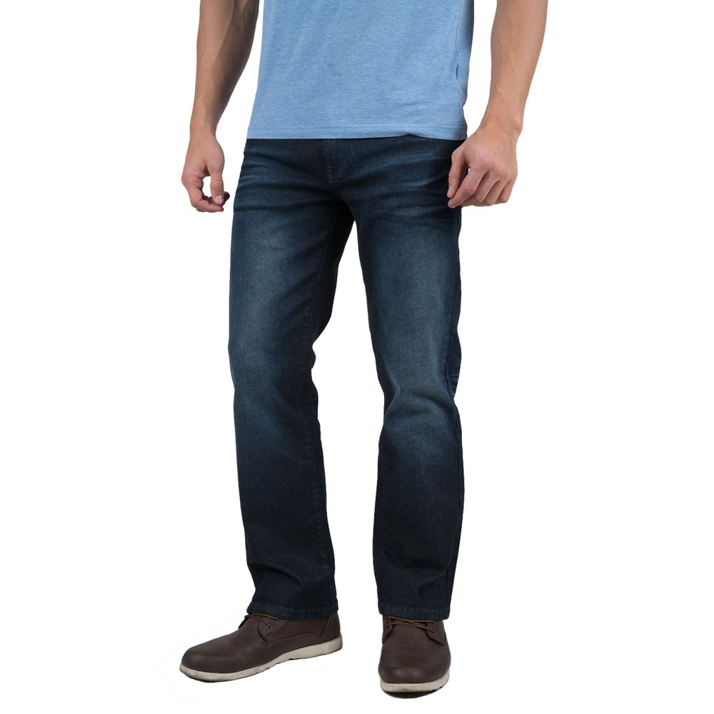 Indigo alpha Straight Fit Cotton Denim Jeans for Men (8006,W38/L32)
