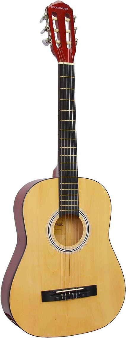 Rocket CG34N - Guitarra clásica española de tamaño 3/4: Amazon.es ...