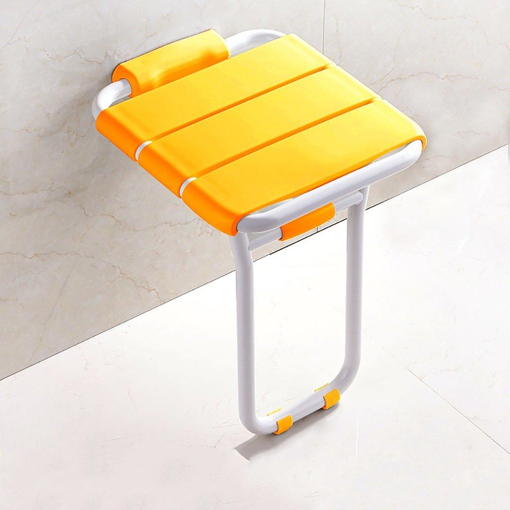 XUEPING バスルームシャワー便 倍 シャワーを浴びる ウォールベンチ 身体障害者用シート ドレッシングスツール バスルーム ひじかけ 壁掛け式 バススツール 2色展開 (色 : A) B07DCV7NDJ  A