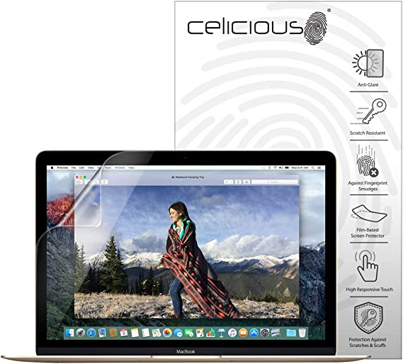 2020 Pack of 2 Celicious Matte Anti-Glare Screen Protector Film Compatible with Apple MacBook Air 13 A2179