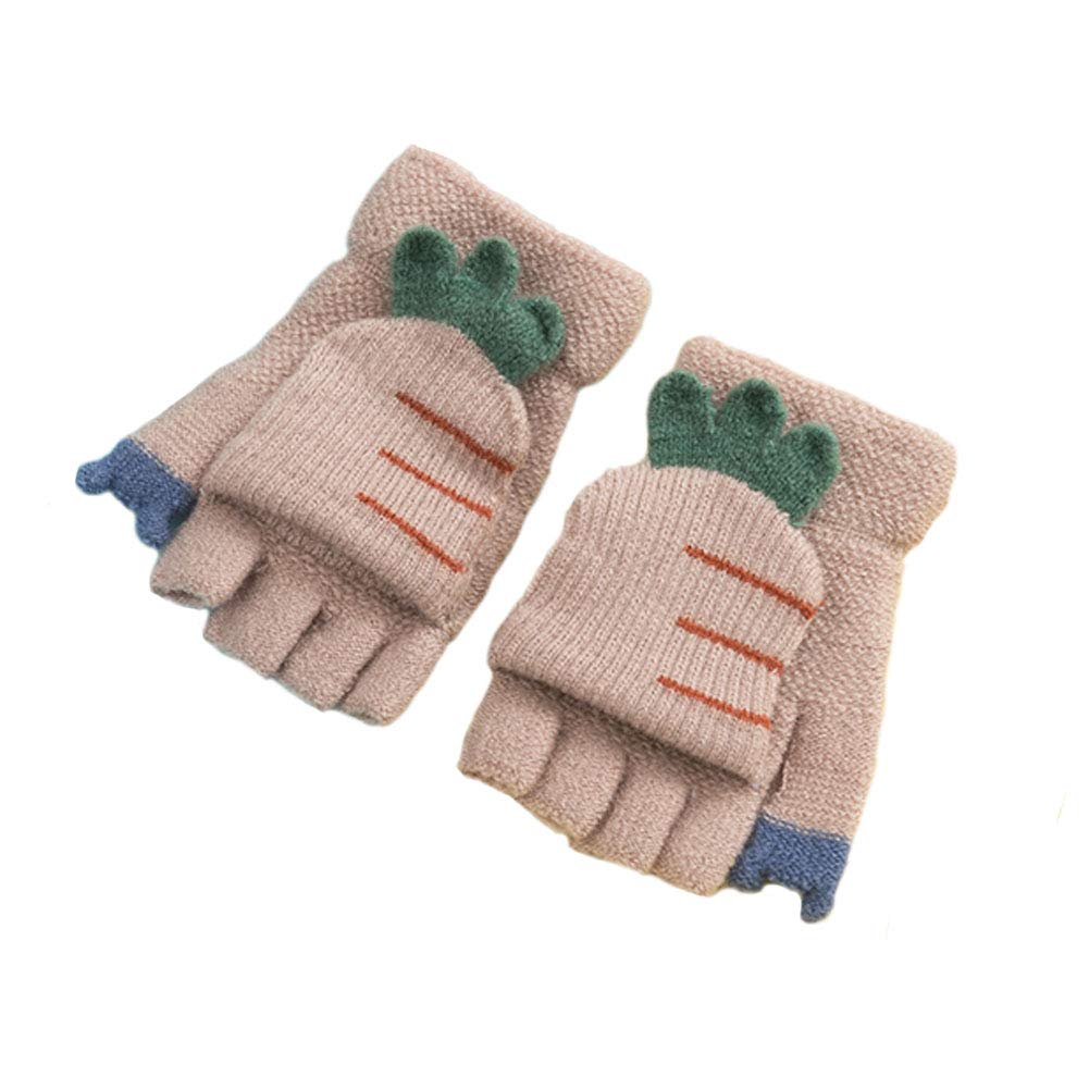 3974a206f Amazon.com: Baby Boys Girls Gloves, Kids Winter Gloves, Warm Mittens With  Mitten Cover By AYUBOOM (Turnip-Beige): Clothing