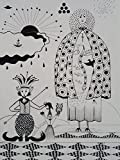 ORIGINAL DRAWING - Black Waterproof Ink FANTASY DRAWING on Heavy STRATHMORE White Paper - SIZE:12''x9'' - Signed by the Artist - ONE-OF-A-KIND