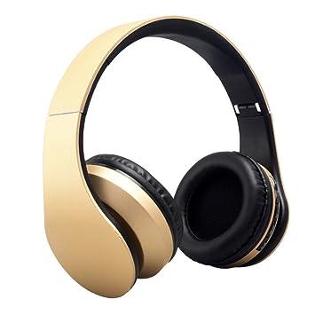 Amazon.com : Wireless Headphones, AutumnFall Stereo Casque Audio Blutooth Earphone Auriculares Bluetooth Headset Wireless Headphones (Gold) : Beauty