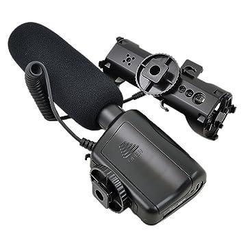 DSTE MIC-121 micrófono estéreo para cámaras de vídeo cámara réflex ...