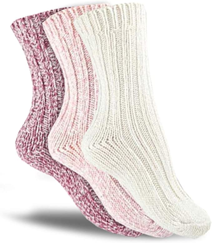 your 3 Paar warme Wintersocken Haussocken 40/% Wolle Kinder Norwegersocken