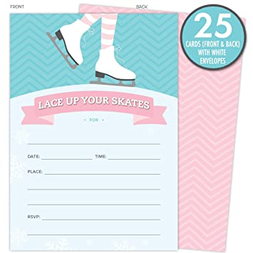 Amazoncom Ice Skating Invitations for Birthday Parties and Other