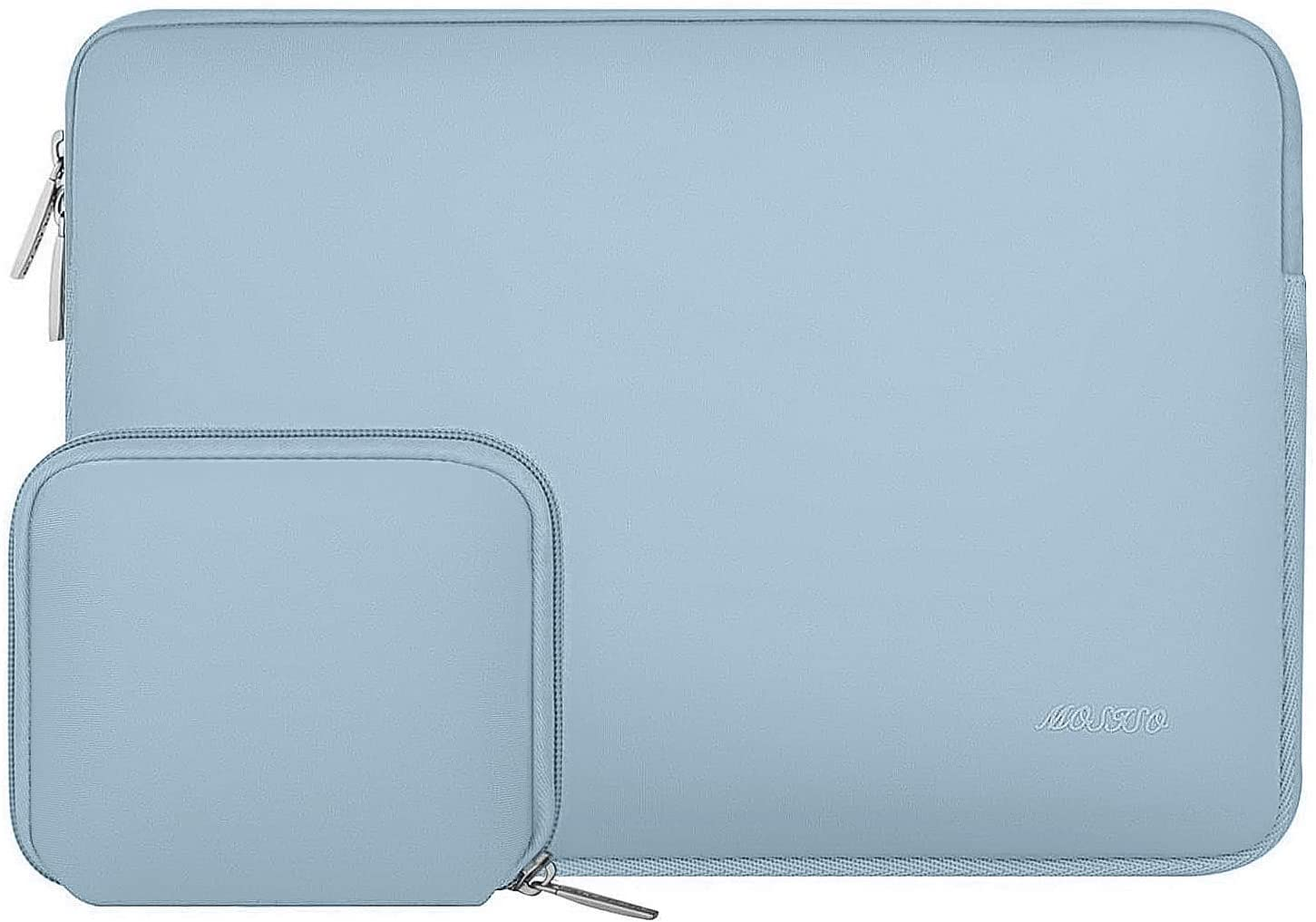 MOSISO Laptop Sleeve Compatible with 13-13.3 inch MacBook Pro, MacBook Air, Notebook Computer, Water Repellent Neoprene Bag with Small Case, Airy Blue