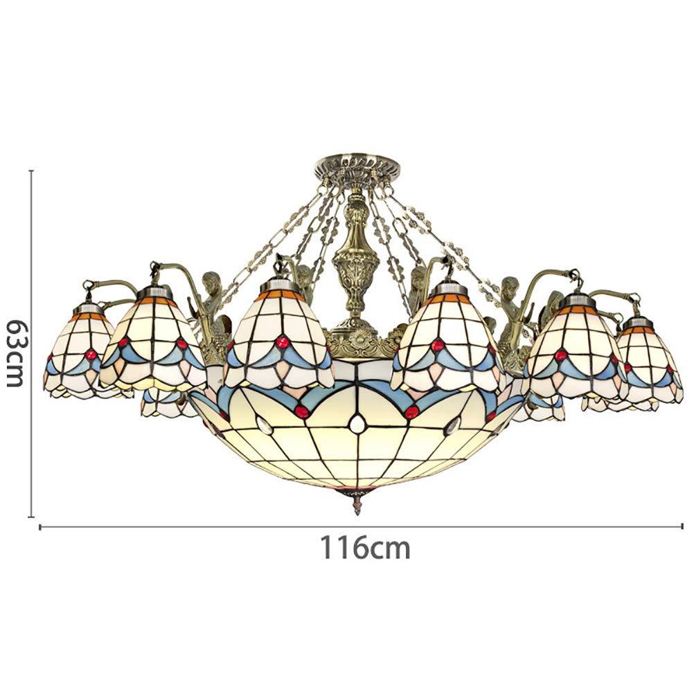 Candelabro Tiffany Style Chandelier, Lámpara de techo con ...