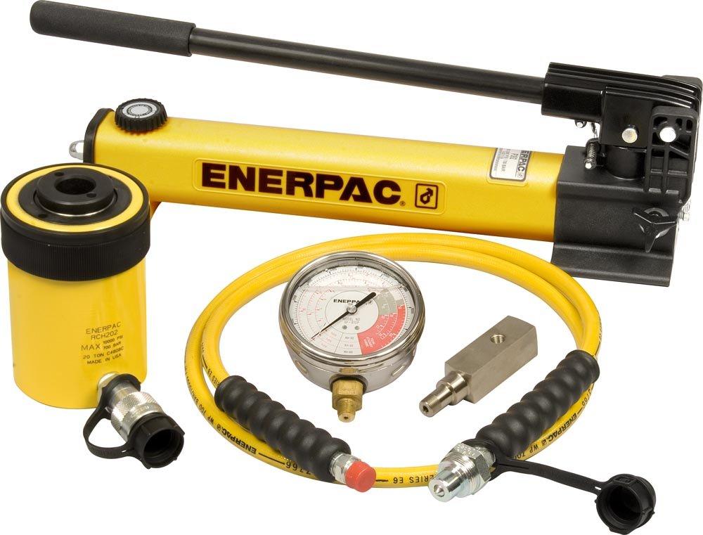 Enerpac SCH-202H Single Acting Cylinder Pump Set RCH-202 Cylinder with P-392 Hand Pump