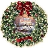 Thomas Kinkade Seasons Of Joy Indoor Christmas Wreath by The Bradford Exchange