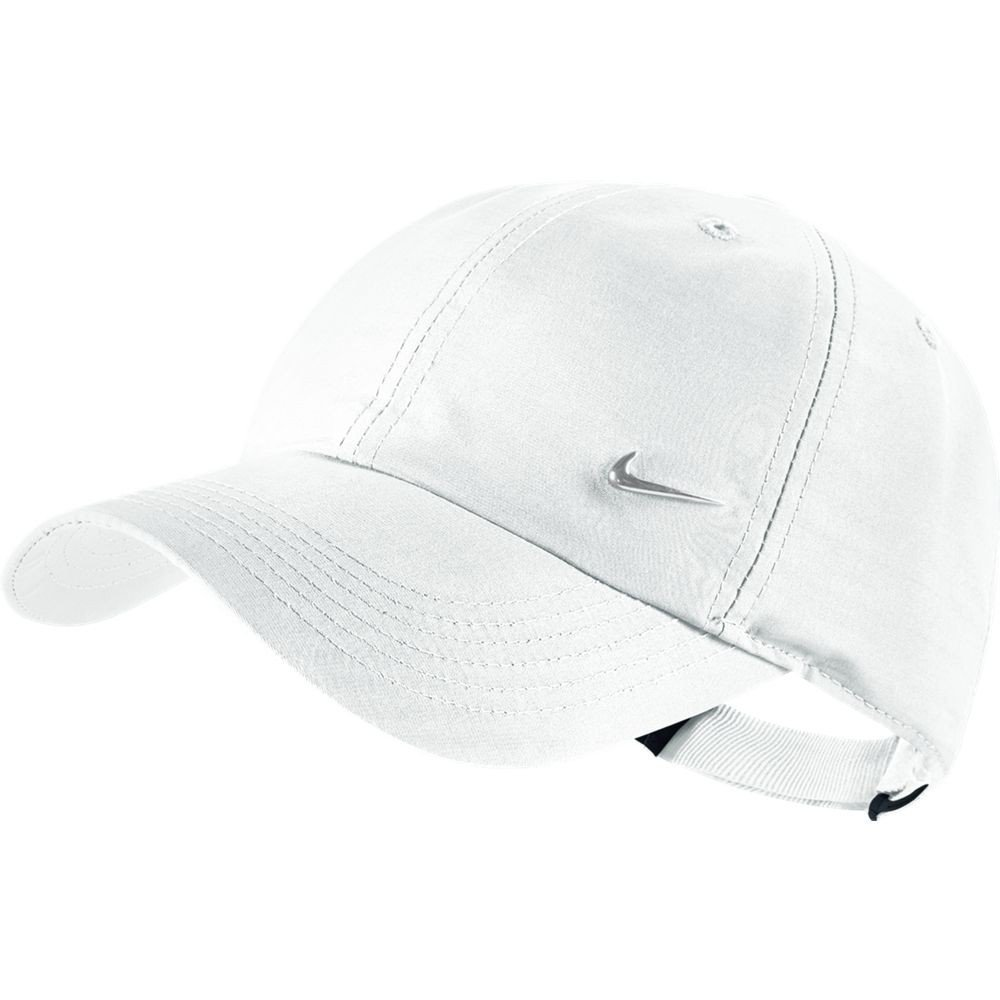 best service 9e961 630b1 Nike Metal Swoosh White Unisex Youth Junior Baseball Cap   Hat One Size   Amazon.ca  Sports   Outdoors