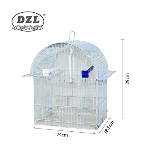 DZL® Jaula para PÁJARO 24X18,5X29CM (Blanco): Amazon.es: Productos ...