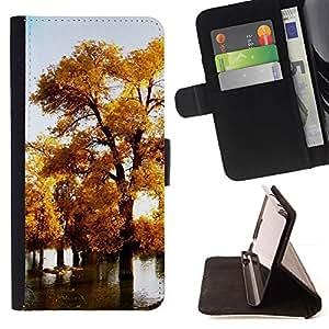 Momo Phone Case / Flip Funda de Cuero Case Cover - Naturaleza Hermosa Forrest Verde 75 - HTC One M8