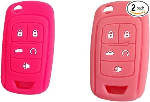 2pcs Fob Key Cover for 12 Chevrolet Camaro Cruze Volt Equinox Spark Malibu Sonic