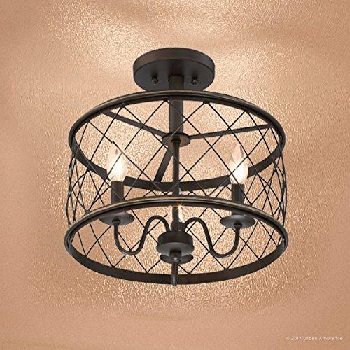 Amazon.com: Urban Ambiance UQL2266 - Lámpara de techo semi ...