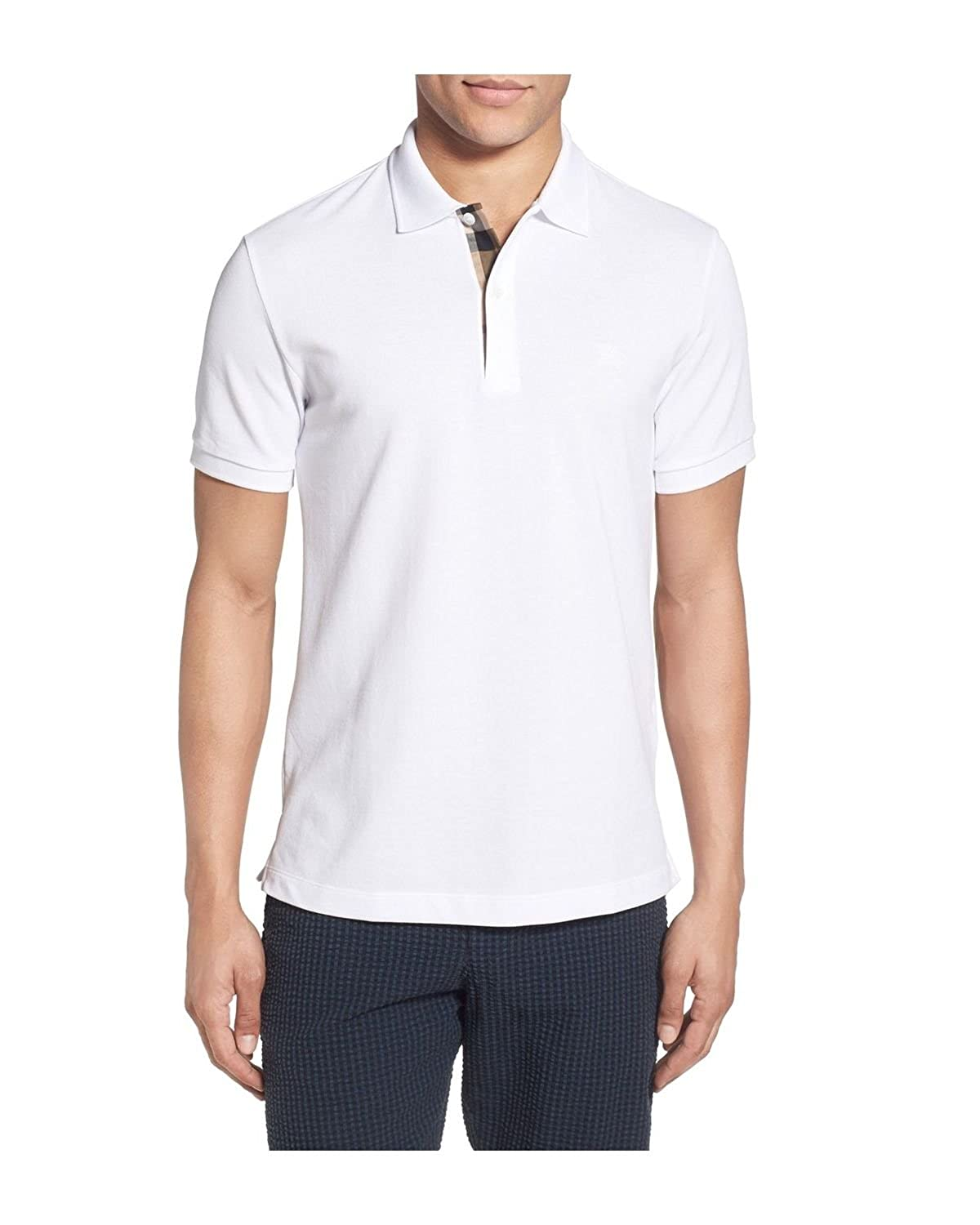 BURBERRY - Polo para Hombre OXFORD - blanco, L: Amazon.es: Ropa y ...