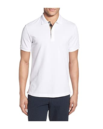 BURBERRY - Polo para Hombre OXFORD - blanco, S: Amazon.es: Ropa y ...