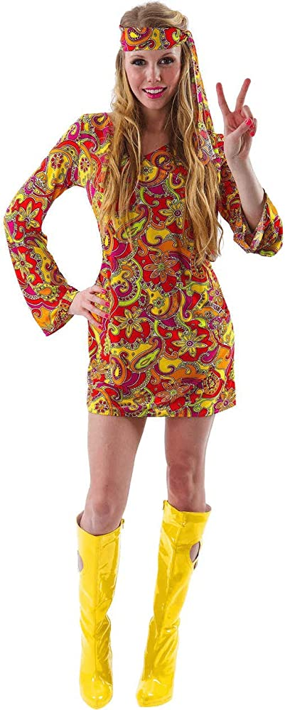 ORION COSTUMES Female Hippie Costume: Amazon.es: Ropa y accesorios