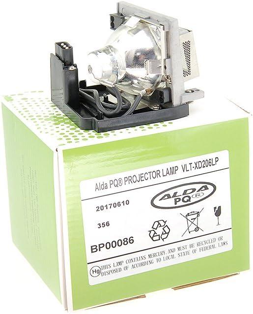 Alda PQ-Premium, Lámpara de proyector compatible con VLT-XD206LP ...