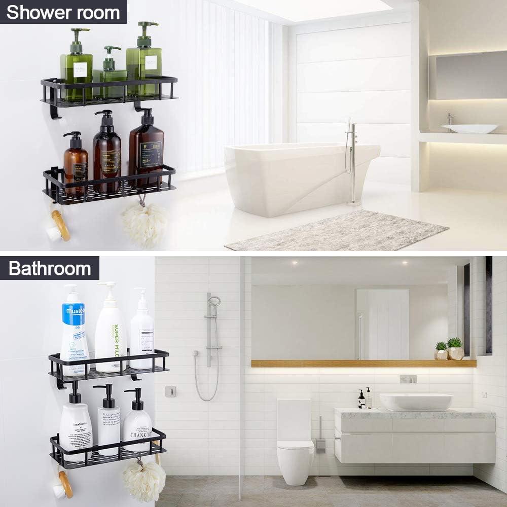 GERUIKE Shower Room Shelf No Drilling Corner Shower Caddy Self Adhesive Toilet 2