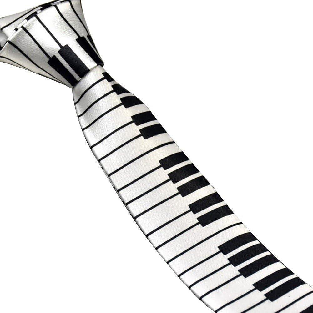 quanjucheer - Corbata de Piano para Hombre, diseño Estrecho, Color ...