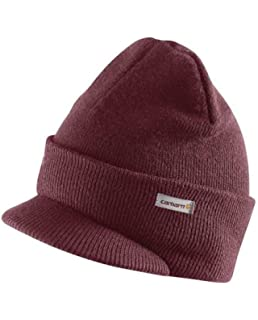 e617537d265 Carhartt Winter Hat with Visor - Port Mens Knit Beanie with Peak CHA164614  Red