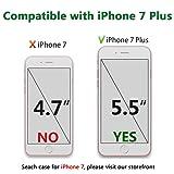 JAHOLAN iPhone 7 Plus Case, iPhone 8 Plus Case