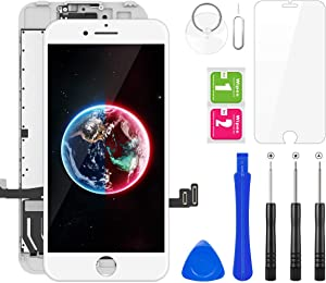 """BuTure for iPhone 7 Plus Screen Replacement, 5.5"""" LCD Display 3D Touch Screen Full Assembly with Repair Tools Kits and Screen Protector (White)"""