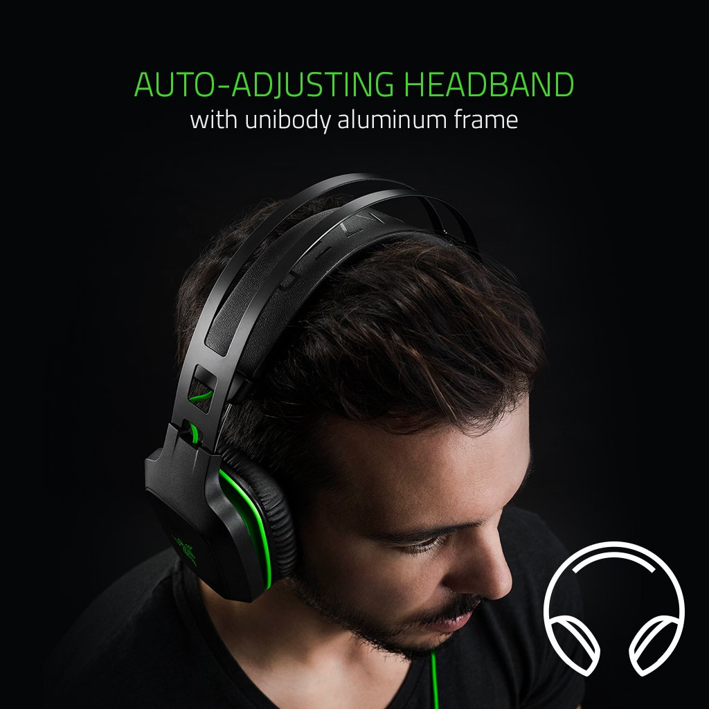 Auriculares de Gaming Razer Electra V2 7.1 Color Negro Surround Sound, USB 3.0