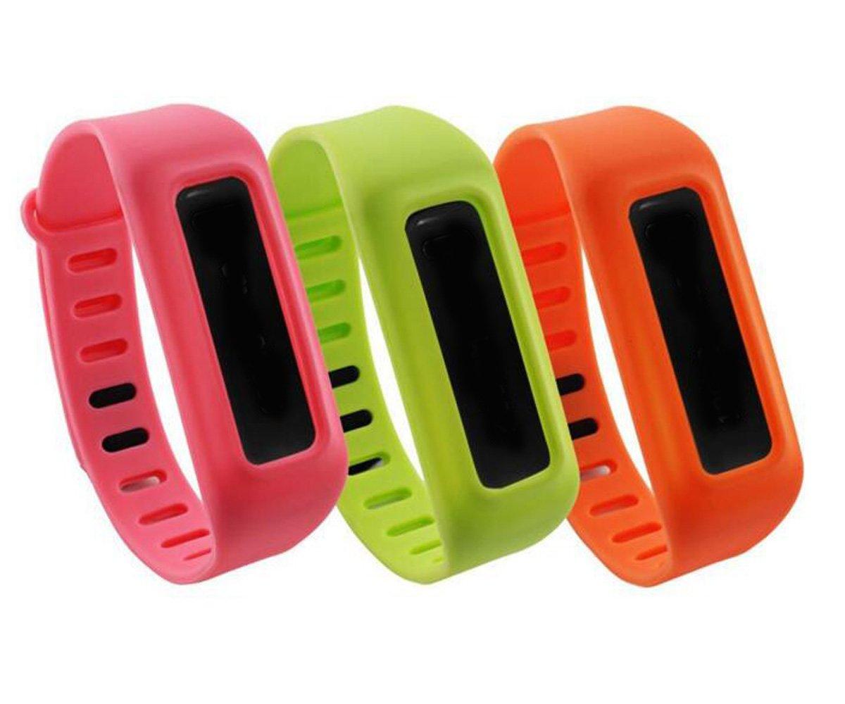 honecumiカラフルな交換用バンドストラップFitbit Oneアクセサリー(トラッカーなし) B01AAB47J8 Pack of 3(Pink,Yellow,Orange)