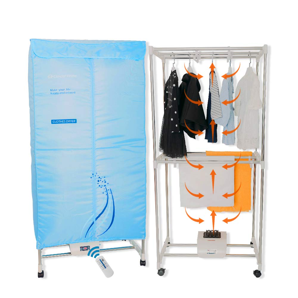 Concise Home Electric Clothes Dryer Stainless Steel Indoors Tri Layers Fast Air Dry Hot Wardrobe Machine drying rack For Home & Dorms