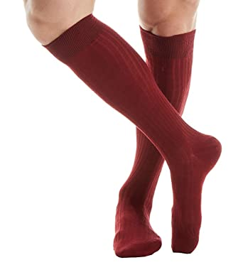 0b3e355c86369 Pantherella Over The Calf Merino Wool Ribbed Socks (6796) XL/Wine:  Amazon.co.uk: Clothing