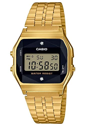 37198c1aea9449 Casio Unisex Adult Digital Quartz Watch with Stainless Steel Strap  A159WGED-1EF: Amazon.co.uk: Watches